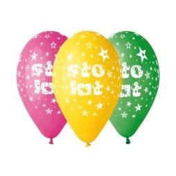 Balony Urodzinowe - Sto Lat - HurtowniaAnimatora.pl