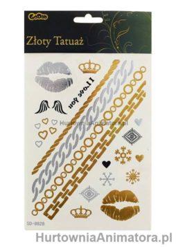 tatuaze_zlote_bizuteria_hurtownia_Animatora_pl
