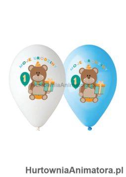Balony_Premium_Moje_1_Urodziny_nad_kolorowy_dla-chlopca_hurtownia_animatora_pl
