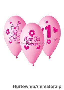 Balony_Premium_Moje_1_urodziny_rozowy_hurtownia_animatora_pl