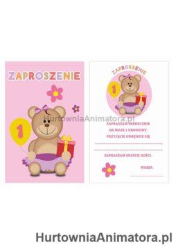 Zaproszenia_Moje_1_Urodziny_6-szt_rozowe_hurtownia_animatora_pl