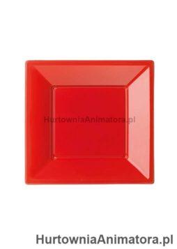 talerze-bbs-plastikowe-kolor-czerwony-kwadratowe_hurtownia_animatora_pl
