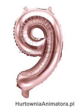 balon-foliowy-cyfra-9-rozowe_zloto_HurtowniaAnimatora_pl